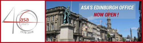 ASA's Edinburgh Office is now OPEN FOR BUSINESS! header image