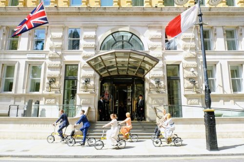 CORINTHIA LONDON PARTNERS WITH BROMPTON BIKE header image