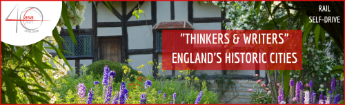 "Exploring England's Historic Cities: ""Thinkers & Writers""  header image"